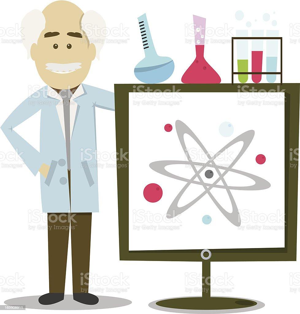 Science Professor vector art illustration
