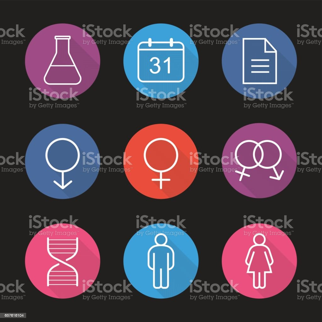 Science research icons vector art illustration