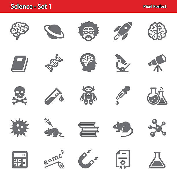 science - set 1 - astronomy telescope stock illustrations