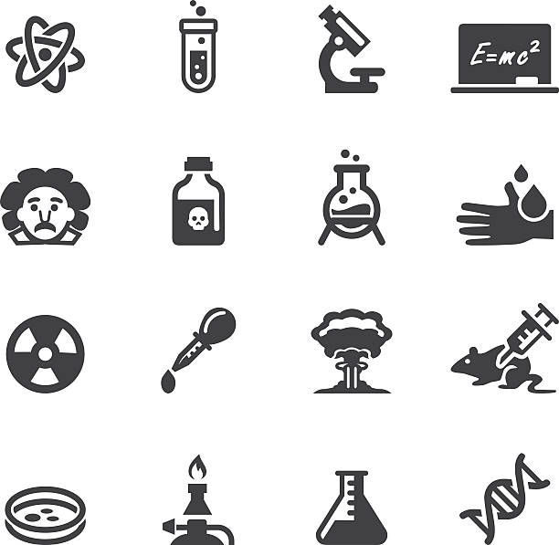 Science Silhouette  icons vector art illustration