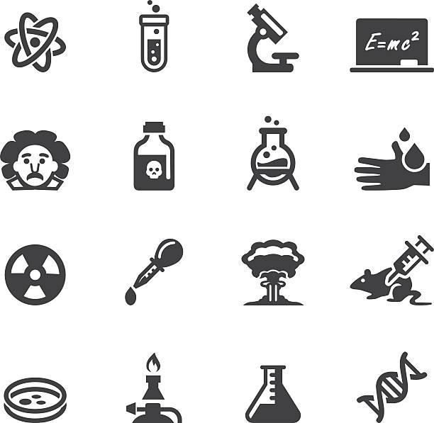 Science Silhouette  icons Science Silhouette icons EPS 10 acid stock illustrations