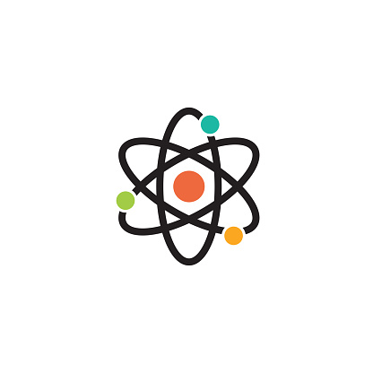 atomic symbol rotates around the core