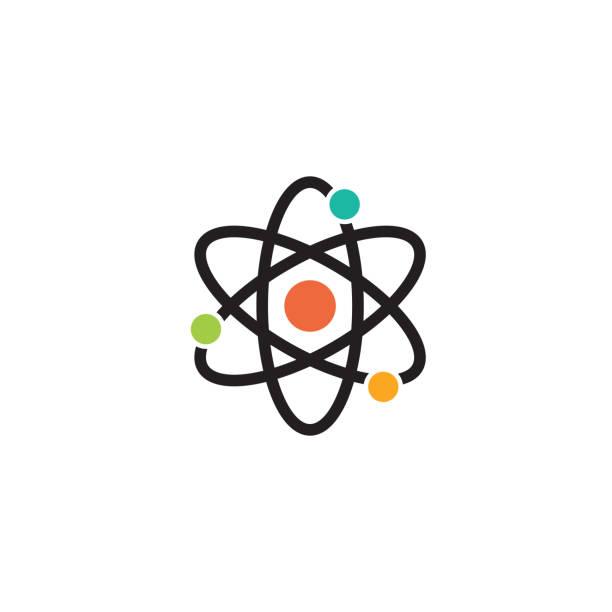stockillustraties, clipart, cartoons en iconen met wetenschap symbool ontwerp - physics