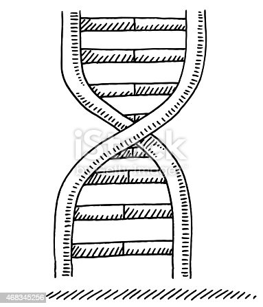 Dna Science Symbol Drawing Stock Vector Art & More Images