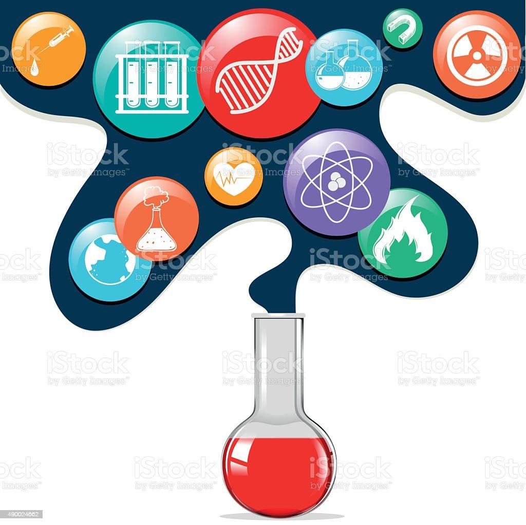 Science Symbols Glass Beaker Stock Vector Art More Images Of 2015