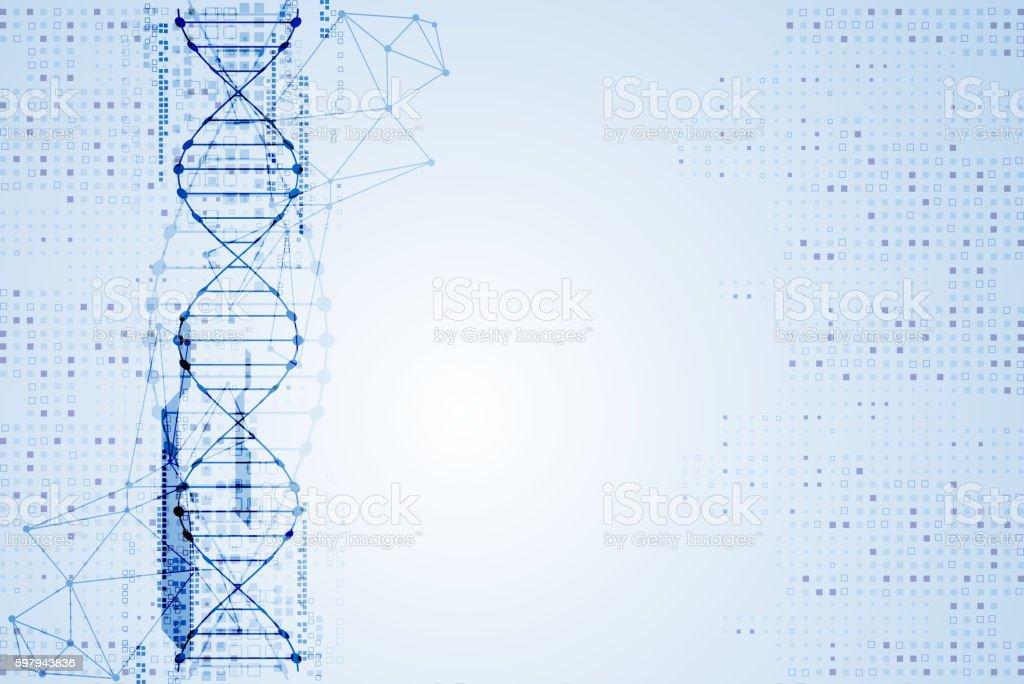 Science template, DNA background. ilustração de science template dna background e mais banco de imagens de azul royalty-free