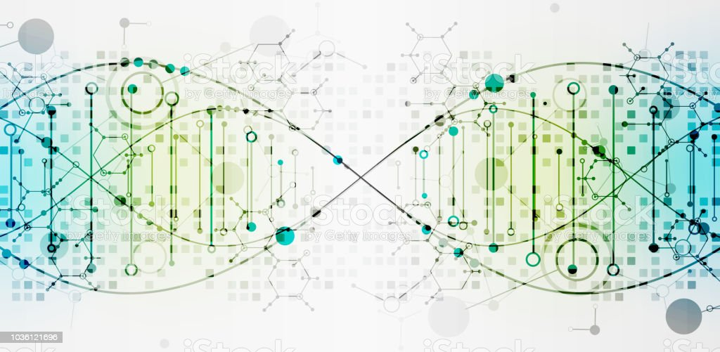Science template, DNA molecules background. Science template, DNA molecules background. Vector illustration. Abstract stock vector