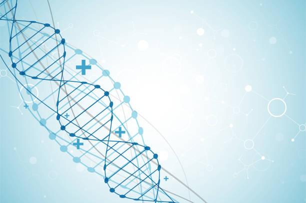 科学のテンプレート、dna 分子の背景。 - 医学研究点のイラスト素材/クリップアート素材/マンガ素材/アイコン素材