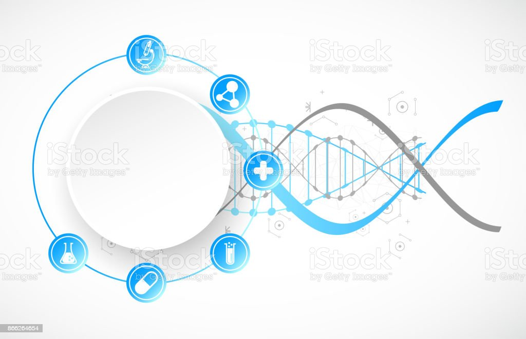 Science Template DNA Molecules Background Royalty Free Dna Stock