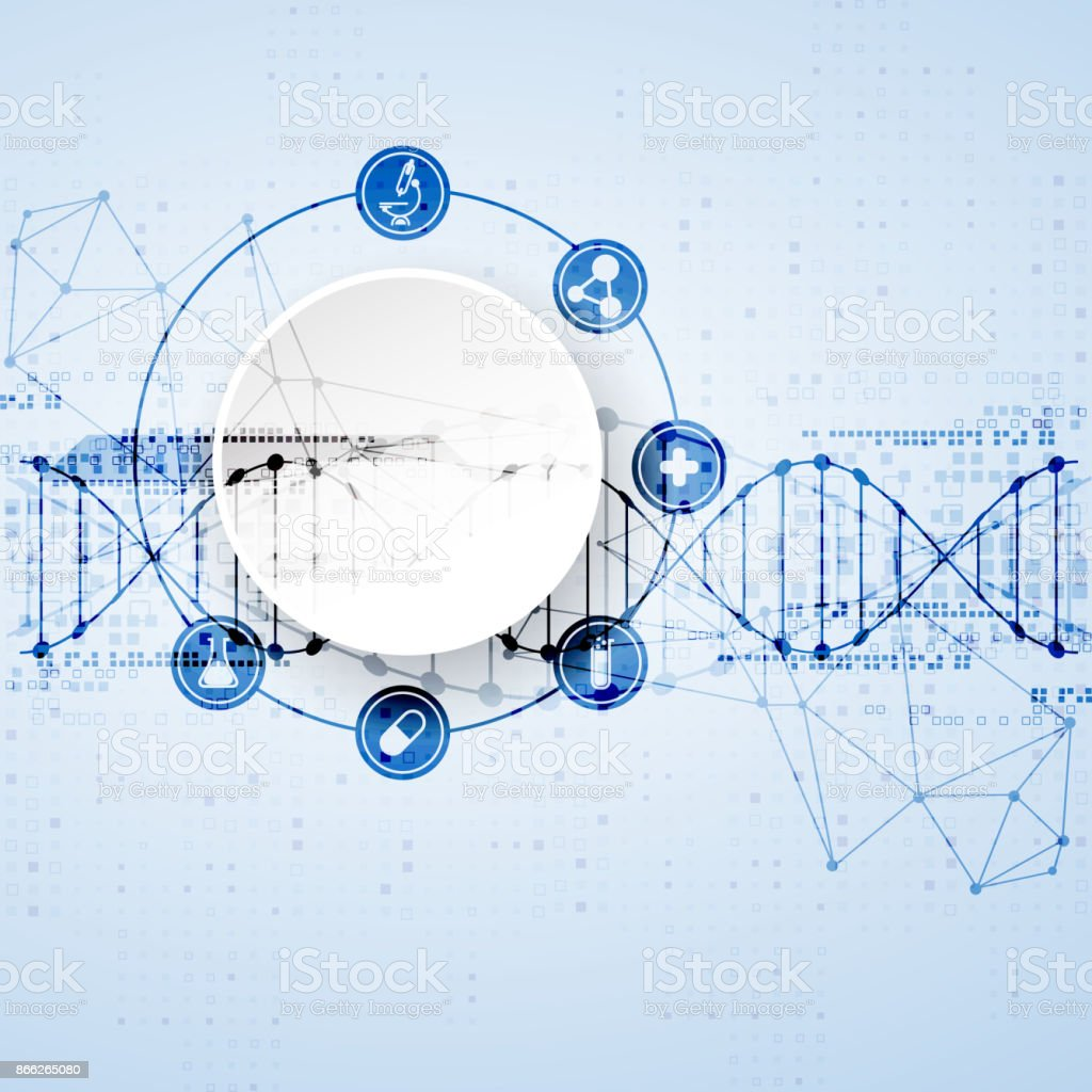 science template dna molecules background stock vector art more