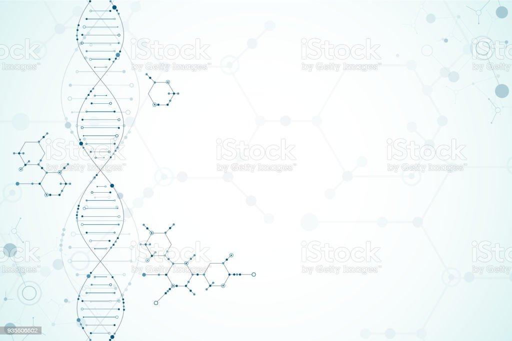 科学のテンプレート、DNA 分子の背景。 ロイヤリティフリー科学のテンプレートdna 分子の背景 - dnaのベクターアート素材や画像を多数ご用意