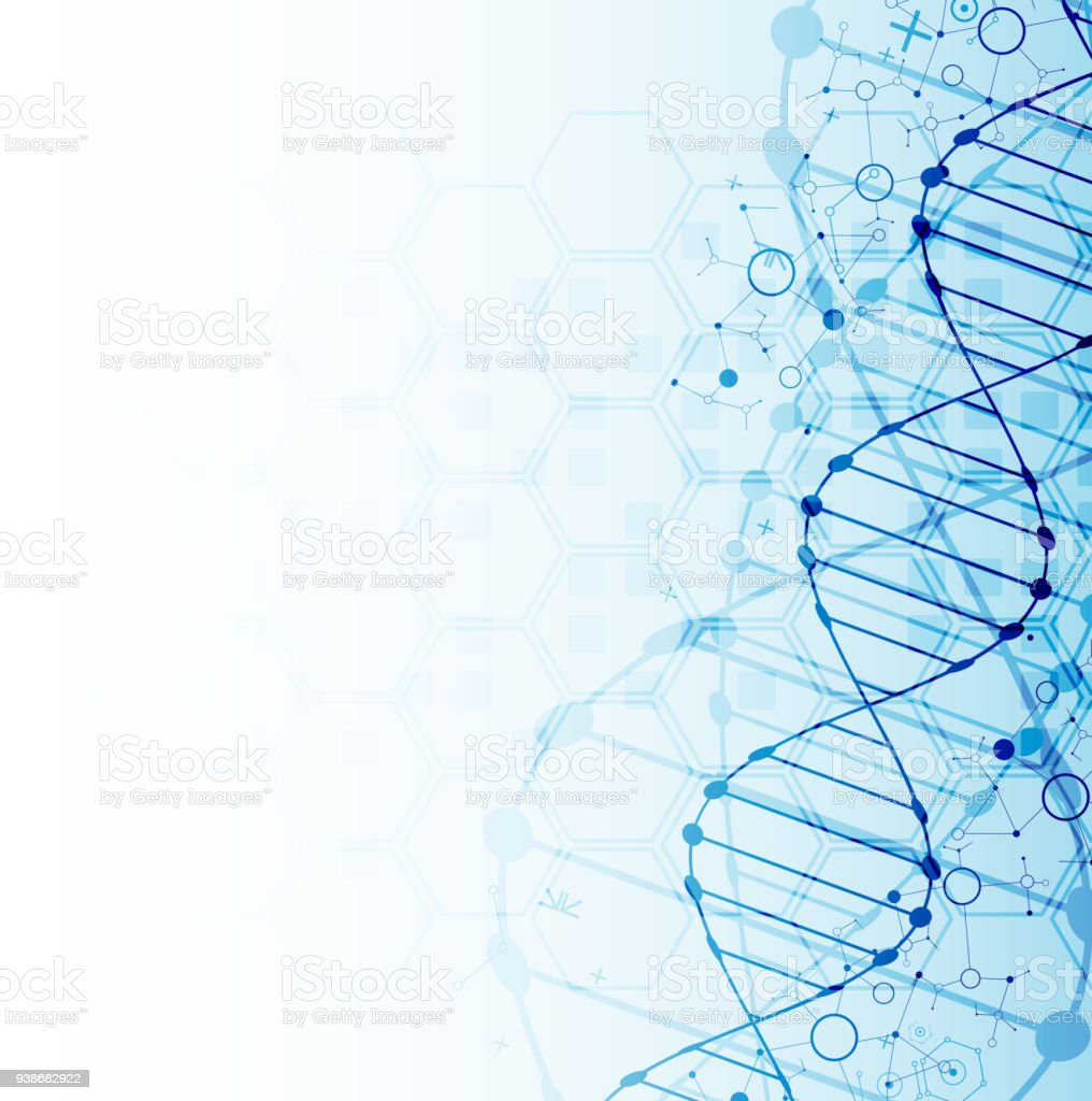 Science Laboratory Background Design: Science Template Dna Molecules Background Stock