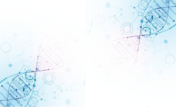 Wissenschaft-Vorlage, DNA-Moleküle Hintergrund. – Vektorgrafik