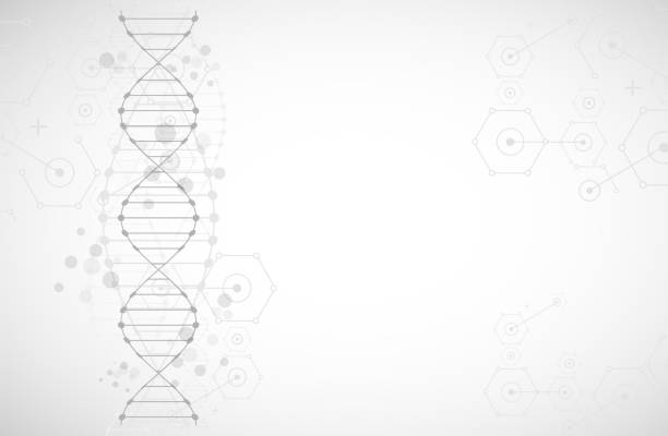 science template, wallpaper or banner with a dna molecules. - bio tech stock illustrations, clip art, cartoons, & icons