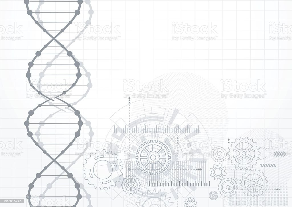 Science Template Wallpaper Or Banner With A Dna Molecules Stock ...