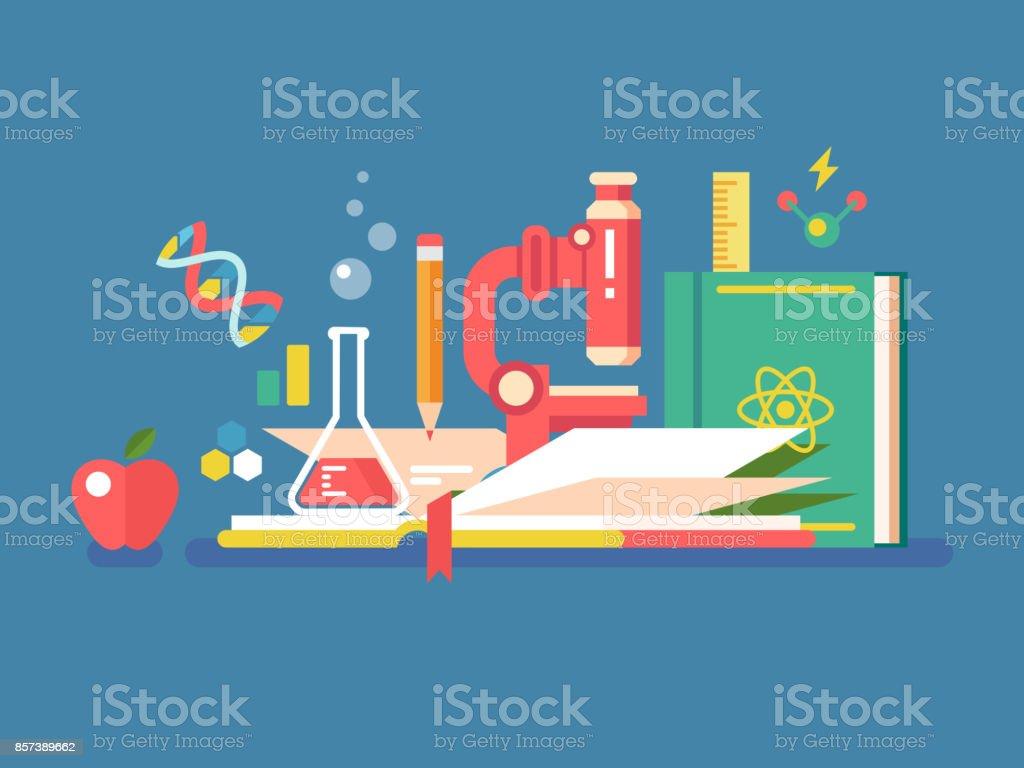 Wissenschaft-Tools für Bildung – Vektorgrafik