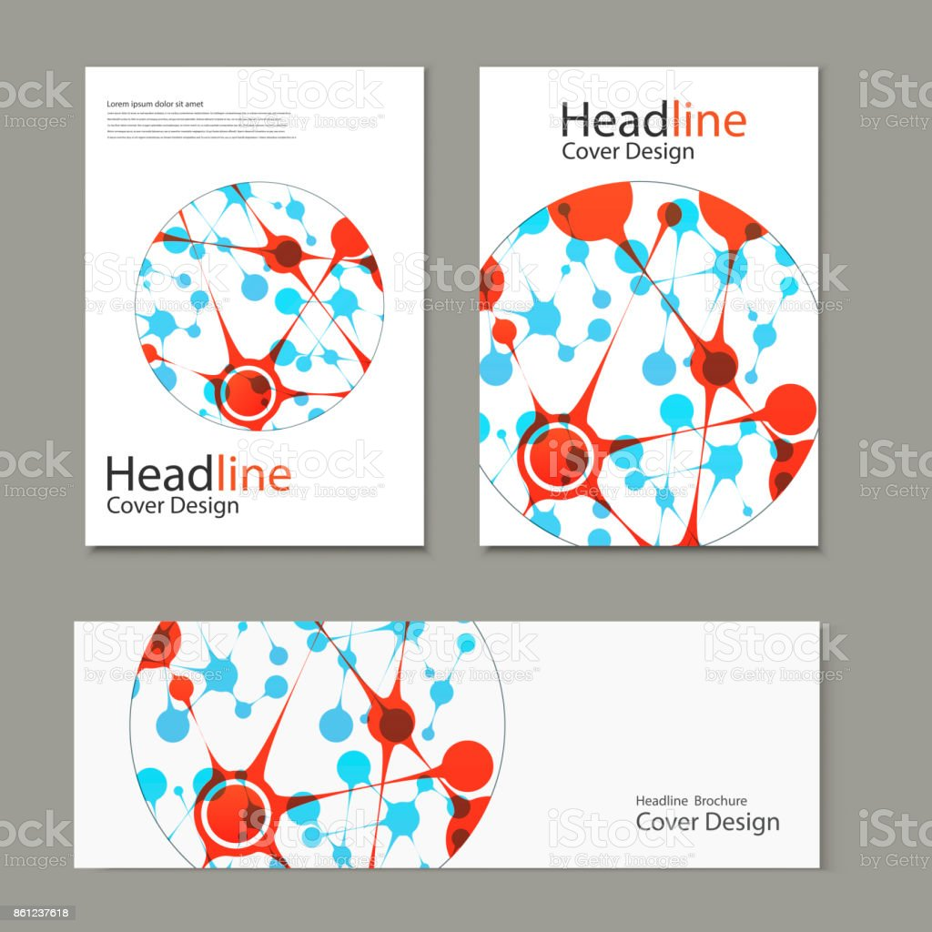 Science vector background. Modern vector templates for brochure, flyer, cover magazine or report in A4 size vector art illustration