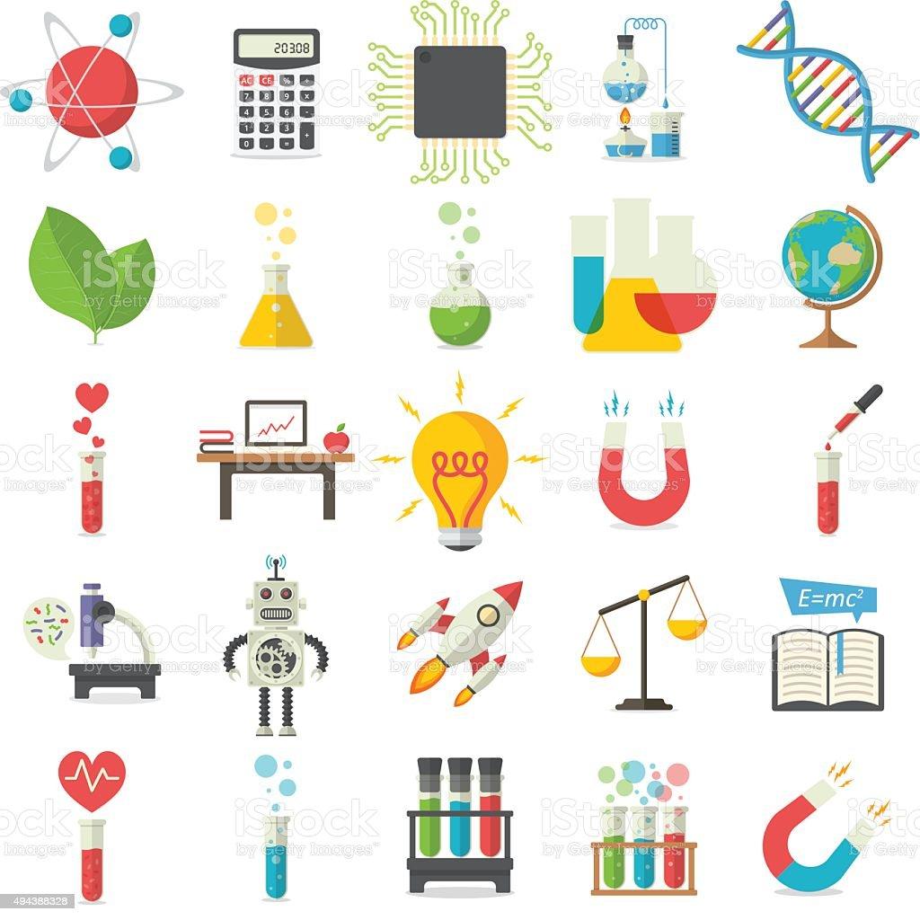 Ciência - ilustração de arte vetorial