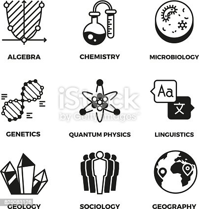Science Vector Pictograms Genetics Algebra Chemistry