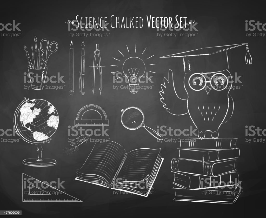 Ciencia de vector conjunto. - ilustración de arte vectorial
