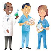 3 people in science , medicine, vet professions