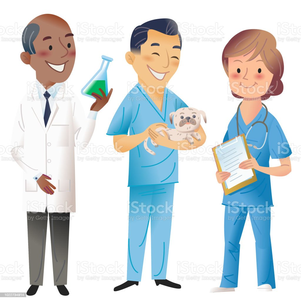 Science, vet, Med, Pharmacy vector art illustration