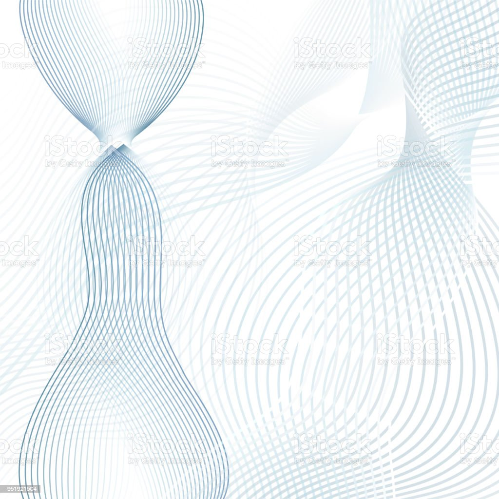 Scientific And Technical Background Abstract Waves Line Art