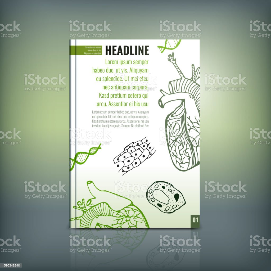 Scientific Brochure 04 A royalty-free scientific brochure 04 a stock vector art & more images of advertisement