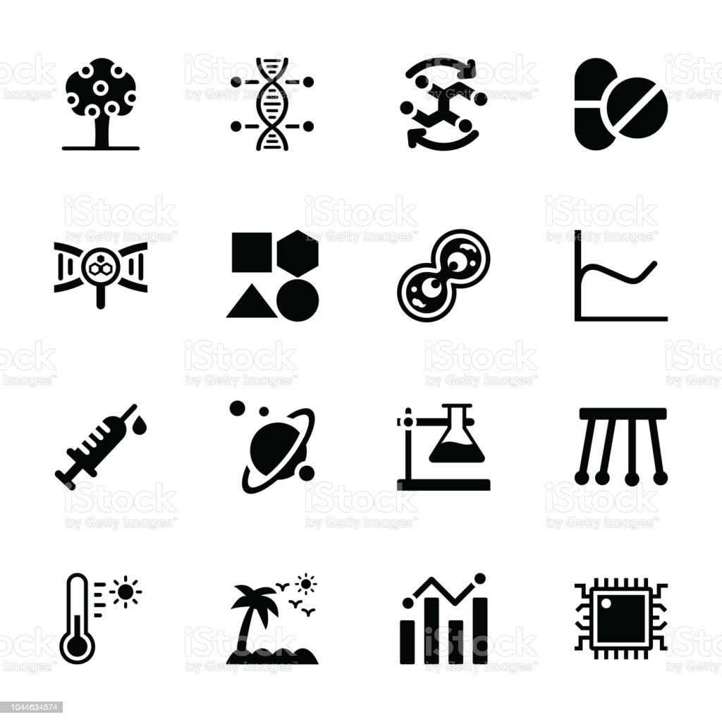 Scientific Evaluation Glyph Vectors vector art illustration