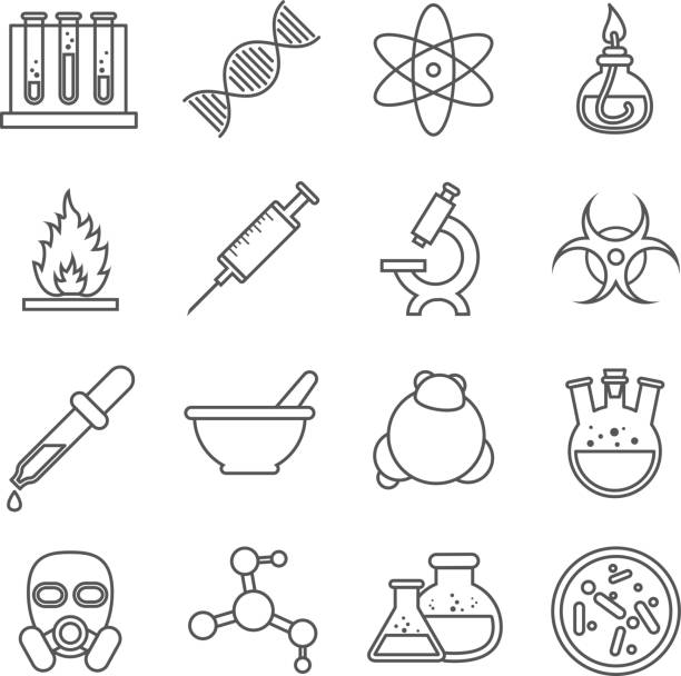 Line Drawing Rules Chemistry : Royalty free biochemistry clip art vector images