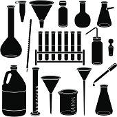 scientific glassware and laboratory equipment