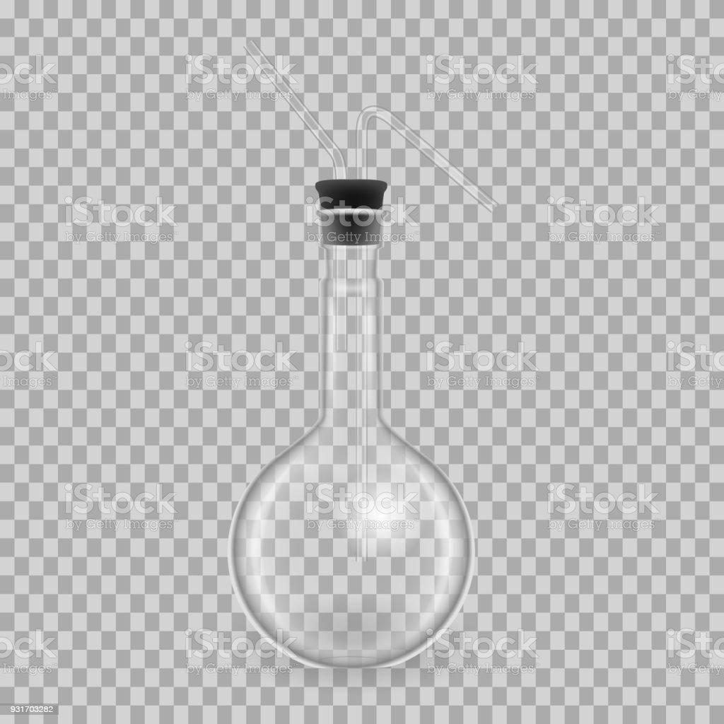 Scientific Glassware Test Tubes Realistic Templates Round Flask ...