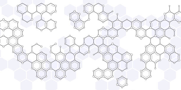 scientific hexagons abstract molecular structure pattern background molecular structure stock illustrations