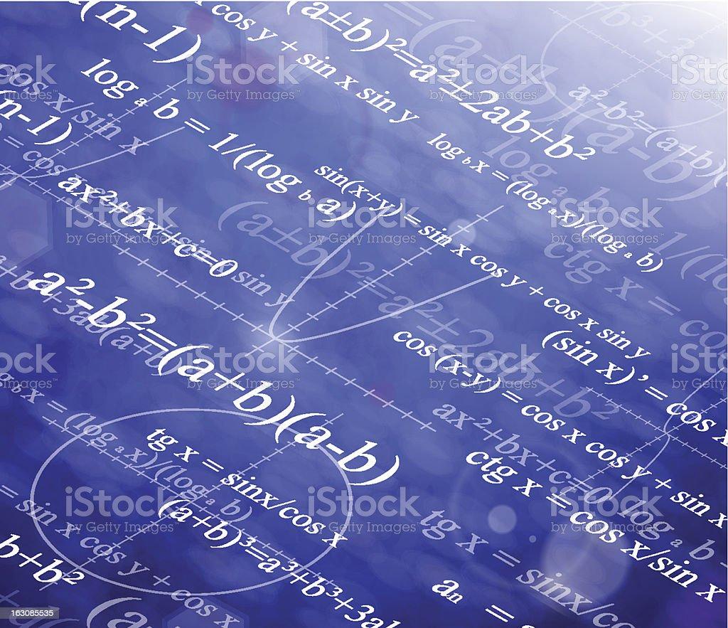 A scientific mathematical background vector art illustration