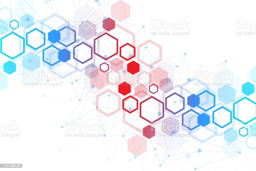 Scientific Molecule Background For Medicine Science