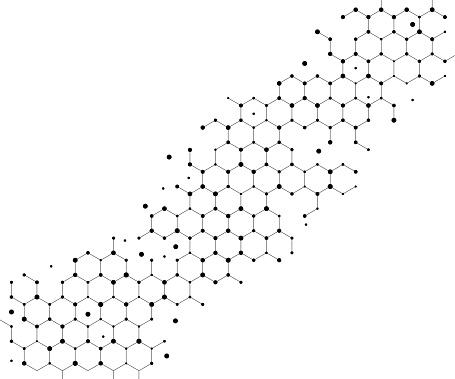 abstract diagonal hexagon scientific pattern background design