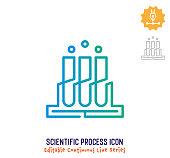 istock Scientific Process Continuous Line Editable Icon 1250538223