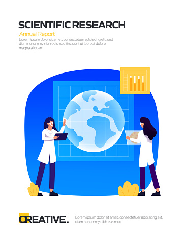 Scientific Research Concept for Posters, Covers and Banners. Modern Flat Design Vector Illustration.
