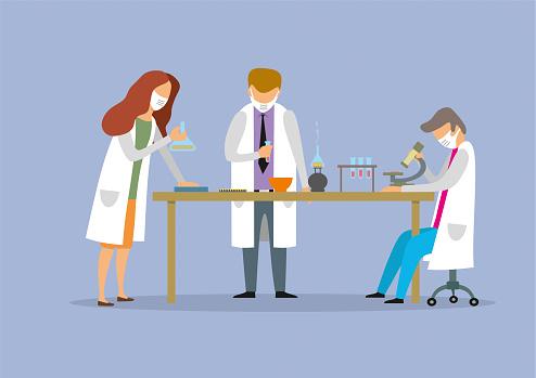 Scientific research in chemical laboratory