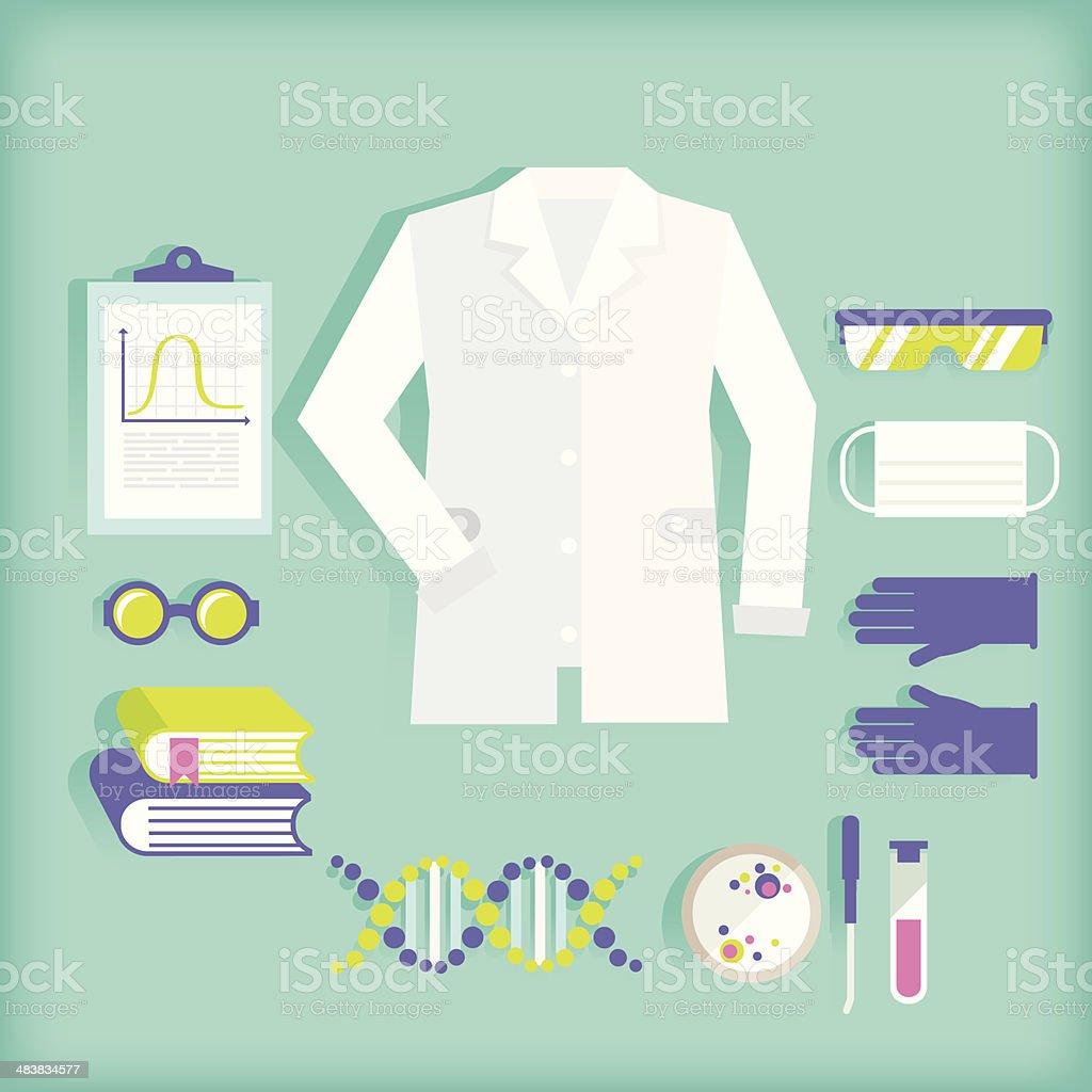 Científico - ilustración de arte vectorial