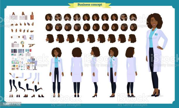 Scientist character creation setblack woman works in science at vector id1068177122?b=1&k=6&m=1068177122&s=612x612&h=3pb3mzlriczhy0absjixvg5q9nvc3kncuecqsjpe62g=