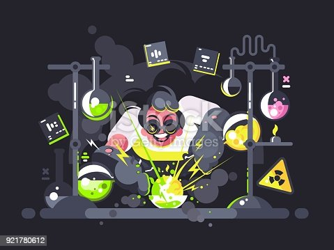 istock Scientist chemist making chemical experiment 921780612