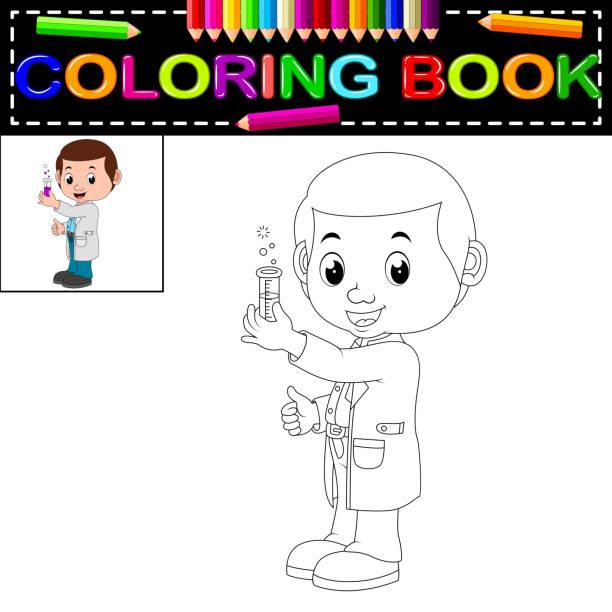 wissenschaftler-malbuch - extravagant schutzbrille stock-grafiken, -clipart, -cartoons und -symbole