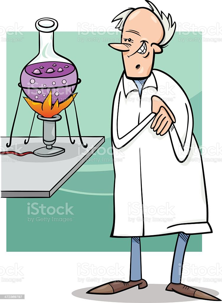 scientist in laboratory cartoon illustration royalty-free scientist in laboratory cartoon illustration stock vector art & more images of adult