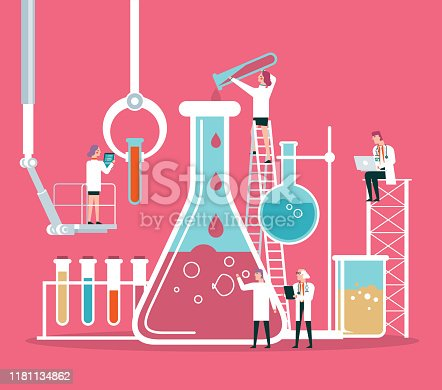 istock Scientist or chemist team 1181134862