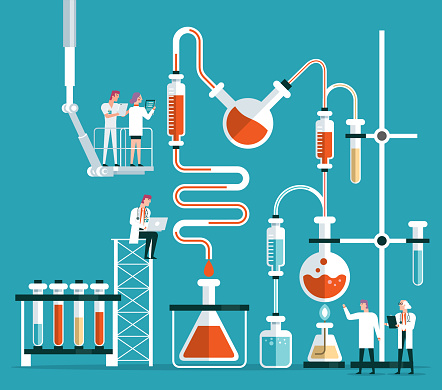 Scientist or chemist team