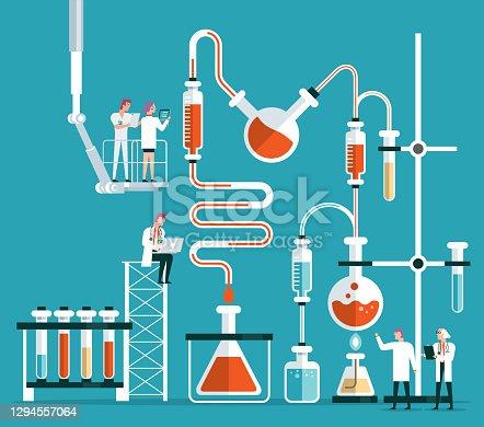 istock Scientist or chemist team 1294557064