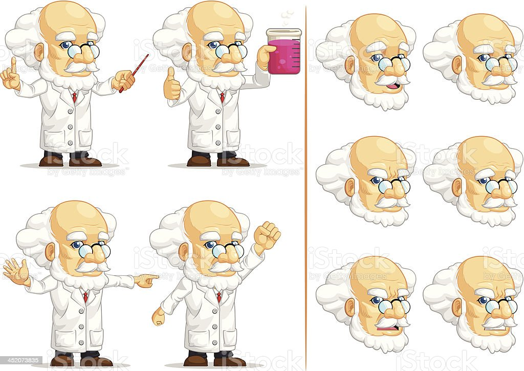Scientist or Professor Customizable Mascot 11 royalty-free stock vector art