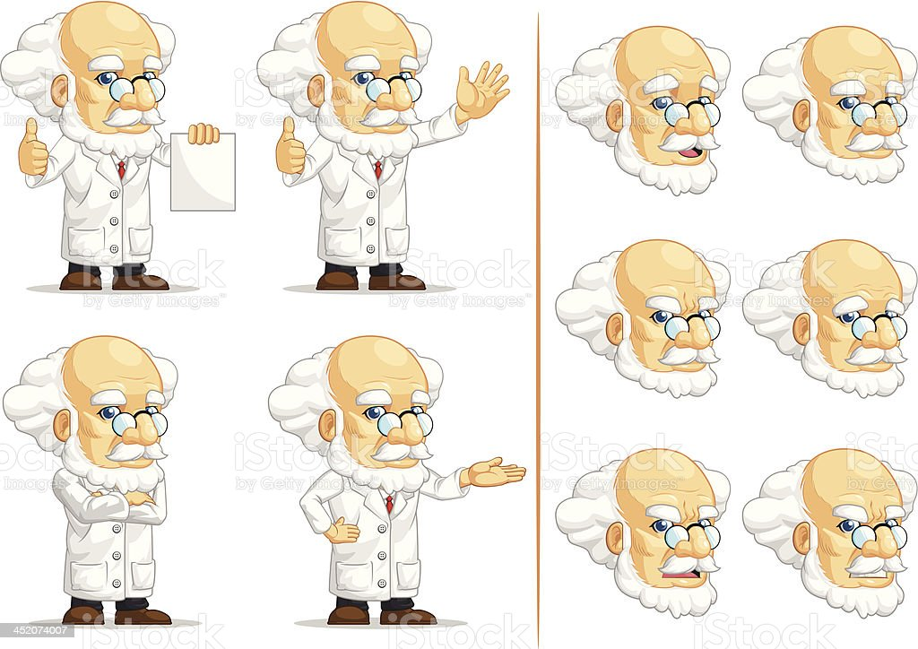 Scientist or Professor Customizable Mascot 13 royalty-free scientist or professor customizable mascot 13 stock vector art & more images of adult