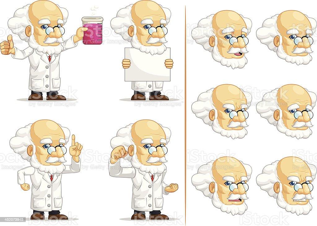 Scientist or Professor Customizable Mascot 3 royalty-free stock vector art
